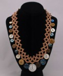 Faux Tatted Necklace with buttons