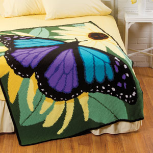 Butterfly Crochet Afghan Pattern Free : Majestic Butterfly Afghan The Crochet Architect