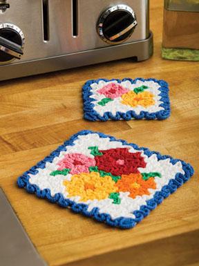 May Flowers Hot Pad & Coaster