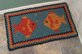 Wiggly Crochet Fish Rug