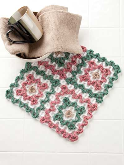 Four Squares dishcloth