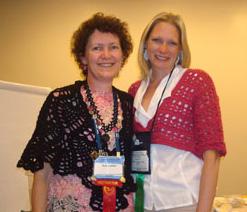 Ellen Gormley (right) and Susan Lowman (left)