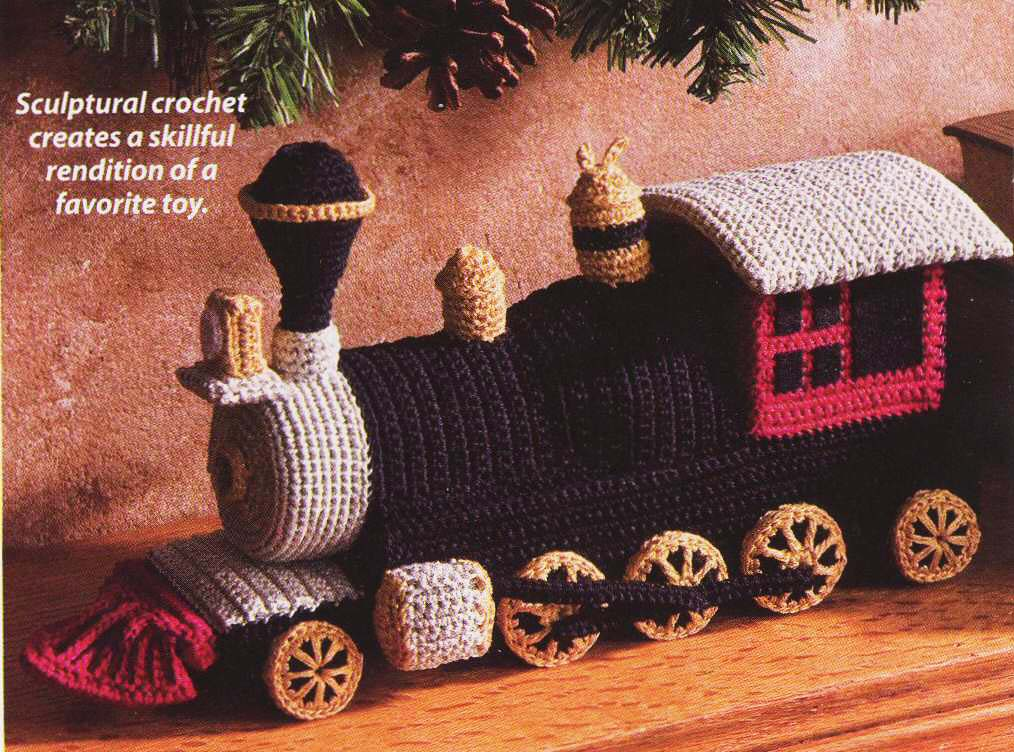 Locomotive Toy (published in Crochet World magazine, Dec. 2009)