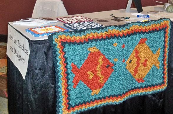 Wiggly Crochet Fish Rug