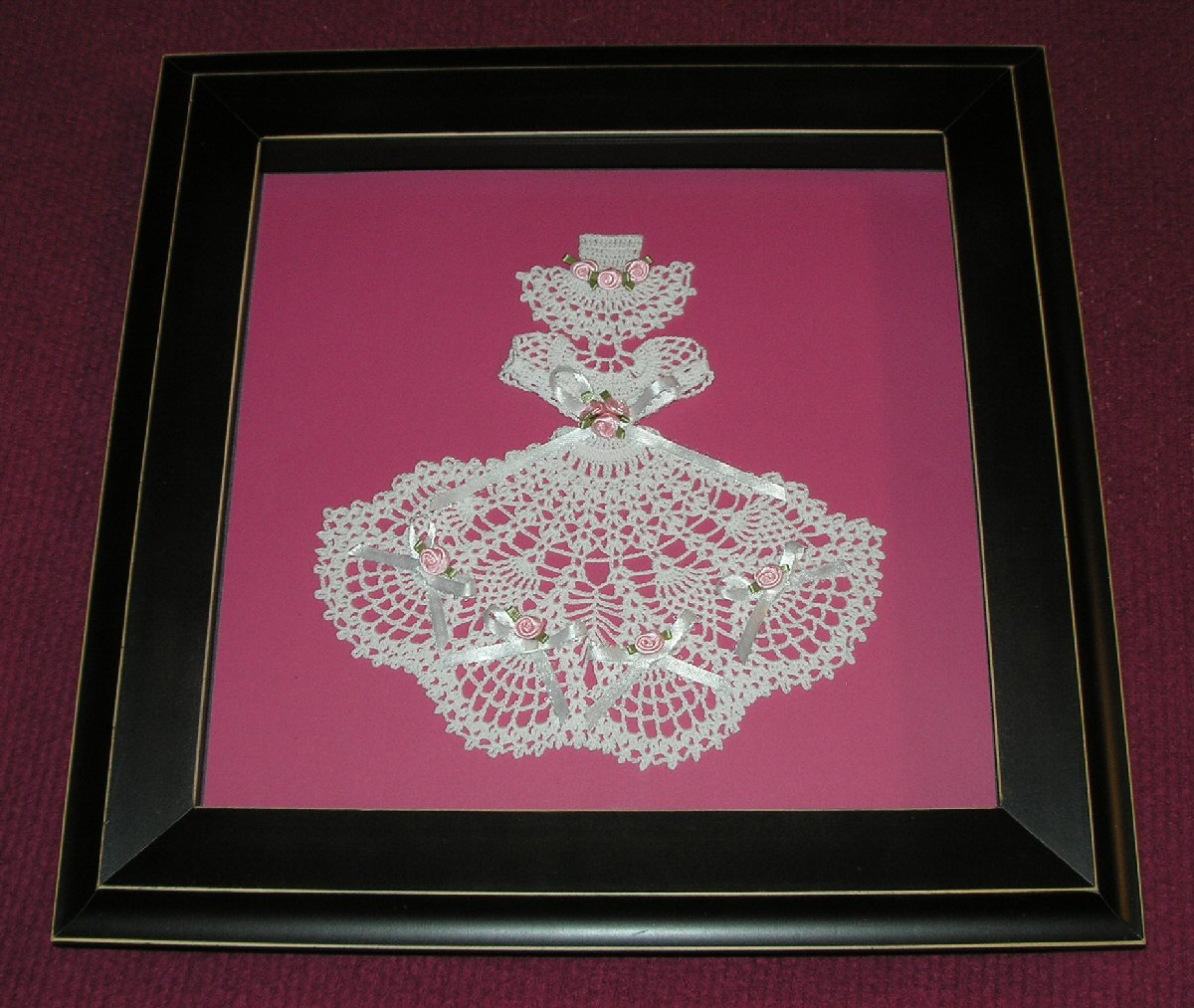 Crinoline Bride framed
