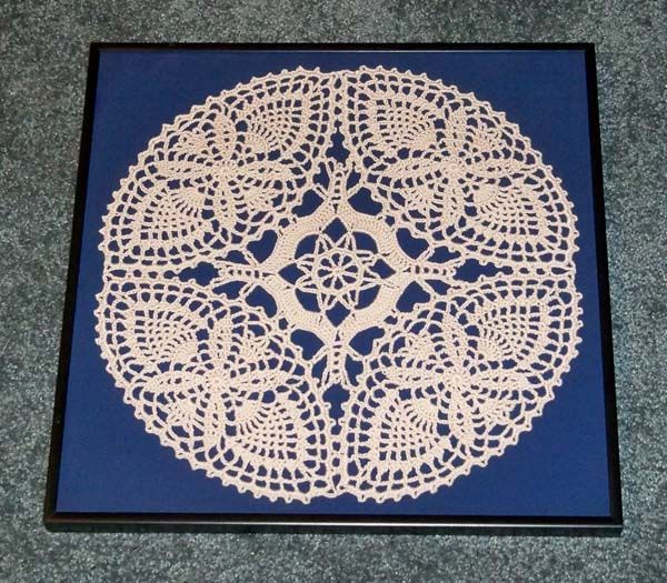 Framed Piece of Tablecloth pattern