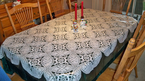 My Crocheted Tablecloth