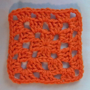 3 Round Granny Square complete smaller