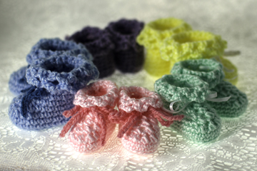 Free Crochet Pattern For Preemie Baby Booties : My FREE Baby Booties Crochet Pattern The Crochet Architect