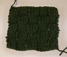 Knit Basketweave Pattern made with a crochet hook