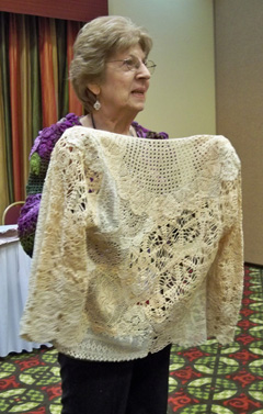 Margaret Hubert's doily jacket