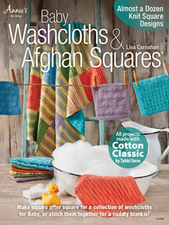 Baby Washcloths & Afghan Squares book (front cover)