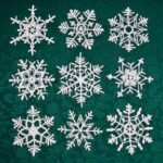9 Stiffened Snowflakes
