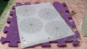 Small blocking board with circles