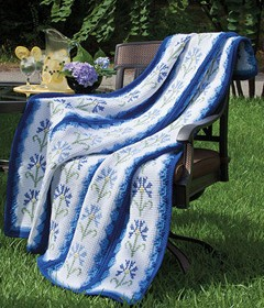 Summer Blues Afghan