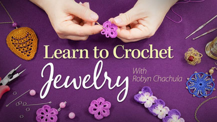 Learn to Crochet Jewelry class at Annie's