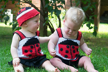 Scarlet Beetle Tank Top and Hat
