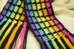 Easy Rainbow Scarf close up