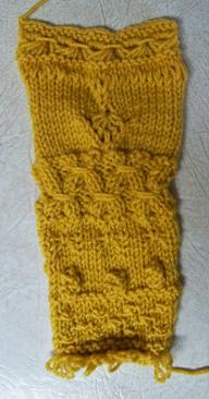 Knitting class swatch