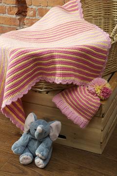 Sherbet Stripes Blanket and Hat