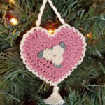 Heart Shaped Victorian Christmas Ornament