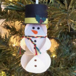 Paper Snowman Ornament