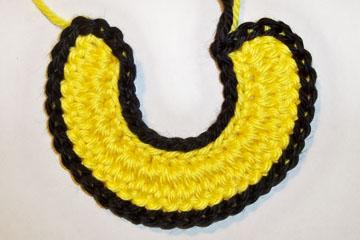 Decorative Slip Stitch Edging completed WS