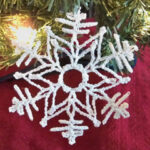 Stiffened Snowflake Ornament 3