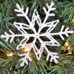 Stiffened Snowflake Ornament 4