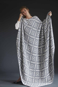 Mosaic Blanket (knit) from Vogue Knitting magazine Winter 2014/2015 issue