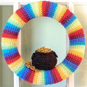 St. Patrick's Day Wreath with Pot of Gold