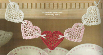 Heart Swag from Feb 2010 issue of Crochet World magazine