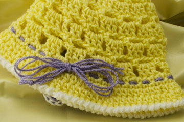 Trim on Baby Sun Hat
