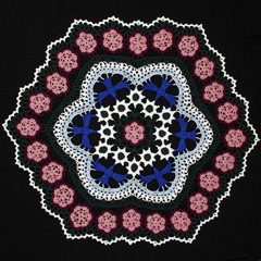 25 Blue Bird Doily by Kathryn White