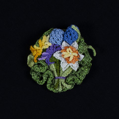 34 Spring Floral Pin by Jean DeMouy