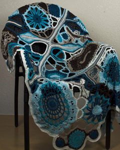 57 Shades of Teal Afghan by Kayt Ross