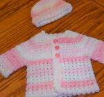 Crochet Baby Sweater and Hat Set