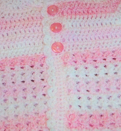 Crochet Baby Sweater close up