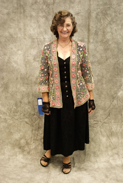 Kathryn White wearing her award-winning Baroque Jacket