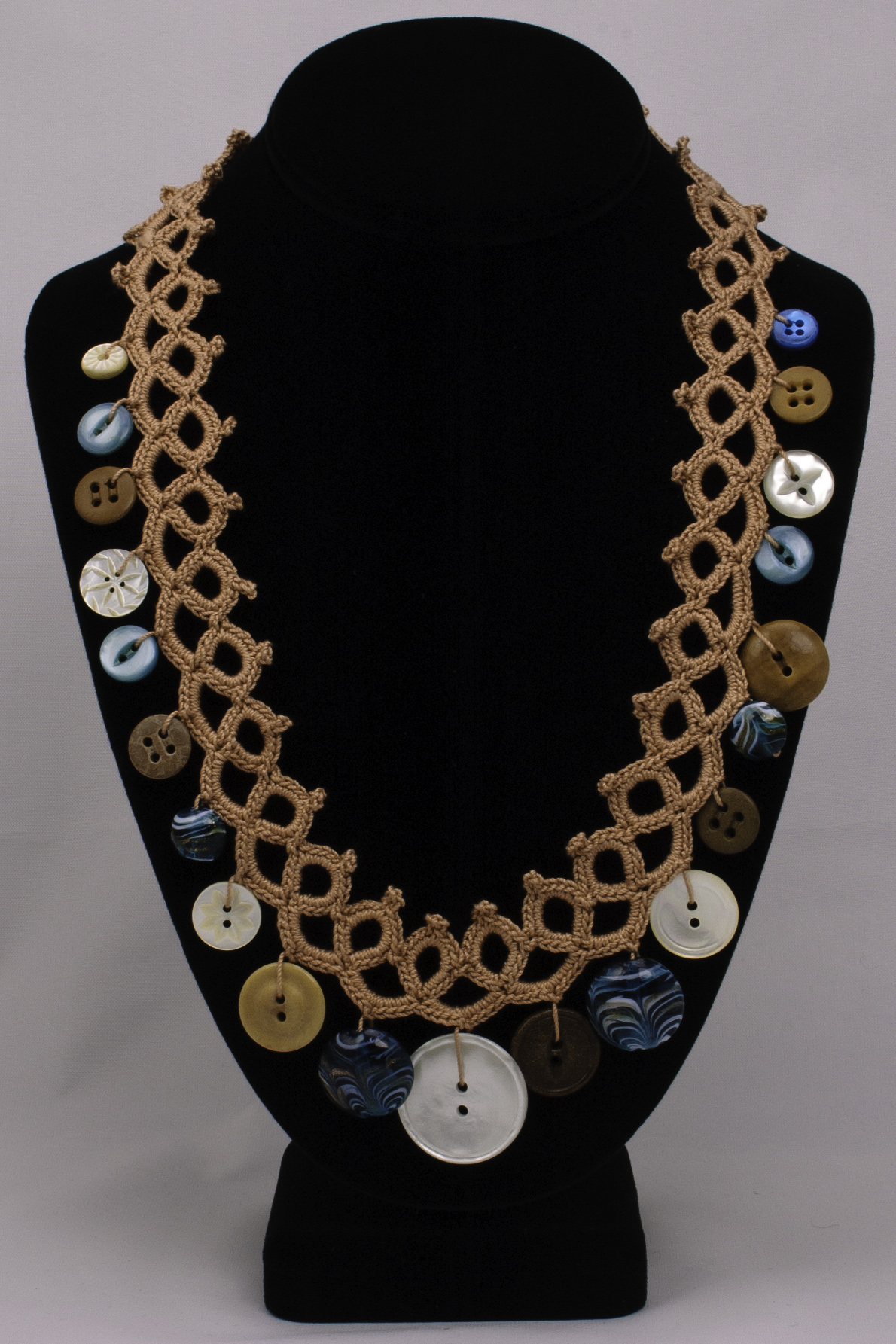 Faux Tatted Necklace