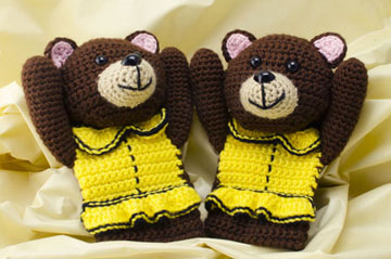 Bear Mitts styled smaller