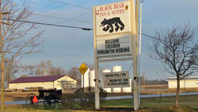 Sign at Black Bear Inn & Suites