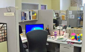 Carol Alexander's cubicle at Annie's