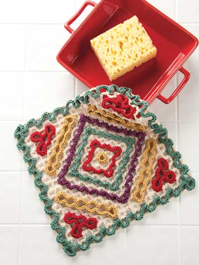 Diagonals dishcloth