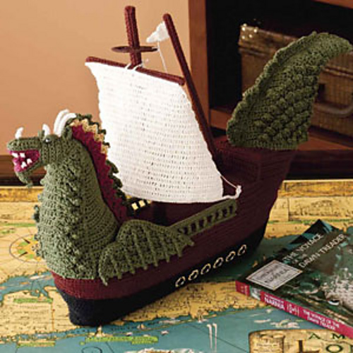 Dragon Ship (published as a web bonus online in Crochet World magazine, Feb. 2011)