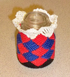 """Candle cover - a """"thank you"""" gift from Patricia Ritchie"""