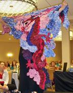 Dragon shawl in fashion show