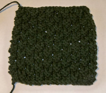 Knit Check Pattern made with a crochet hook