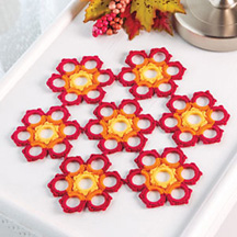 Autumn Blaze Table Mat in Crochet World magazine Oct. 2013