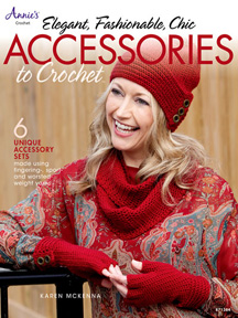 """Elegant, Fashionable, Chic Accessories to Crochet"" front cover"